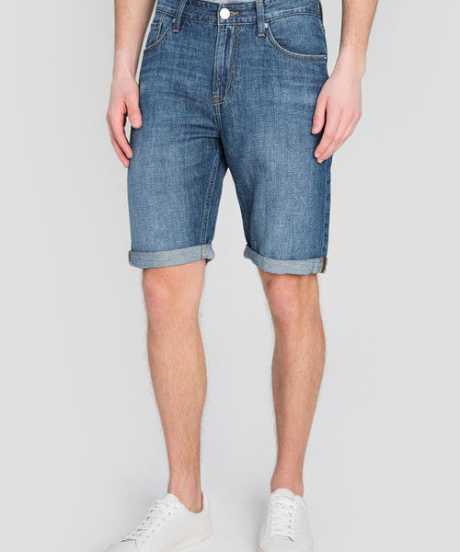 Фото Льняные джинсовые шорты