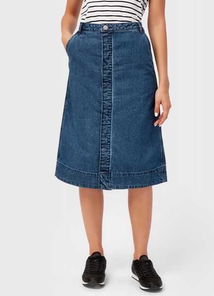 Фото Джинсовая юбка на пуговицах