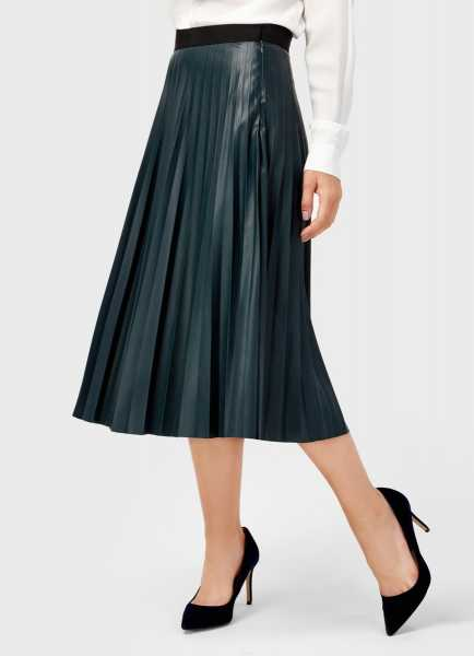 Фото Плиссированная юбка из искусственной кожи