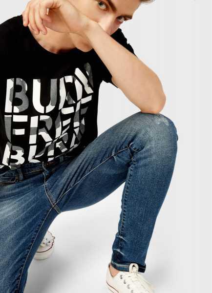 Фото Удлинённая футболка с принтом