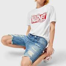 Фото Джинсовые шорты с разрывами