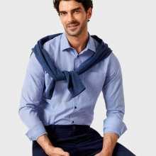 Фото Рубашка в полоску с микрожаккардом