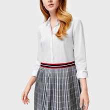 Фото Платье-рубашка с плиссированной юбкой