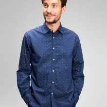 Фото Принтованная рубашка из хлопка Oxford