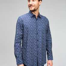 Фото Рубашка из хлопка Oxford с флоральным принтом