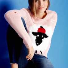 Фото Джемпер с рождественским принтом