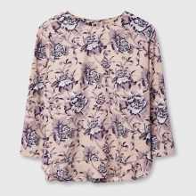 Фото Блузка из крепа в цветочный принт