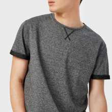 Фото Однотонная футболка из ткани French Terry